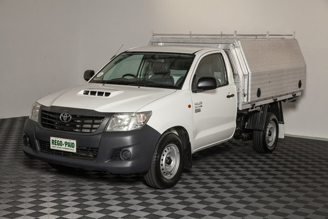 Used Toyota Hilux KUN16R MY14 Workmate 4x2, 2014 Toyota Hilux KUN16R MY14 Workmate 4x2 Glacier 5 Speed Manual Cab Chassis