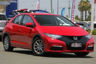 2014 Honda Civic 9th Gen MY14 VTi-S Red 5 Speed Sports Automatic Hatchback.
