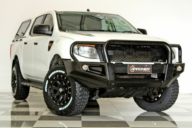 Used Ford Ranger PX XL 2.2 (4x4), 2014 Ford Ranger PX XL 2.2 (4x4) White 6 Speed Automatic Crew Cab Utility