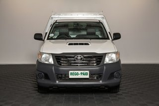 2014 Toyota Hilux KUN16R MY14 Workmate 4x2 Glacier 5 speed Manual Cab Chassis.