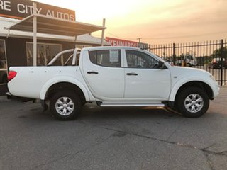 2012 Mitsubishi Triton MN MY12 GL-R White 4 Speed Automatic Double Cab Utility.