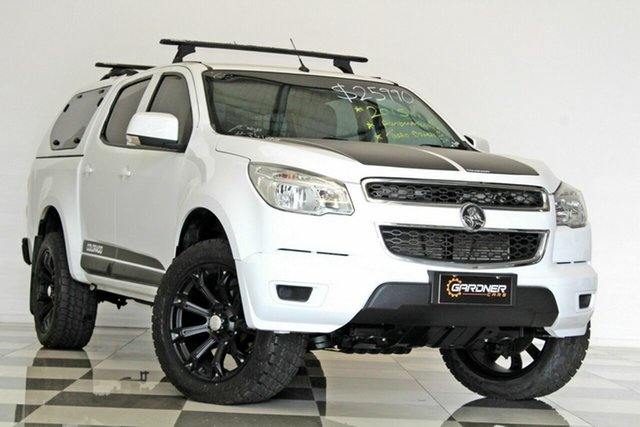 Used Holden Colorado RG MY15 LS (4x2), 2015 Holden Colorado RG MY15 LS (4x2) White 6 Speed Automatic Crew Cab Pickup