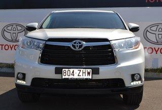 2015 Toyota Kluger GSU55R GX (4x4) Crystal Pearl 6 Speed Automatic Wagon.