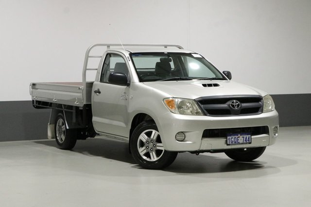 Used Toyota Hilux KUN16R SR, 2005 Toyota Hilux KUN16R SR Silver 5 Speed Manual Cab Chassis