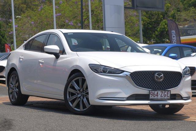 Demo Mazda 6 GL1033 Atenza SKYACTIV-Drive, 2019 Mazda 6 GL1033 Atenza SKYACTIV-Drive Snowflake White 6 Speed Sports Automatic Sedan