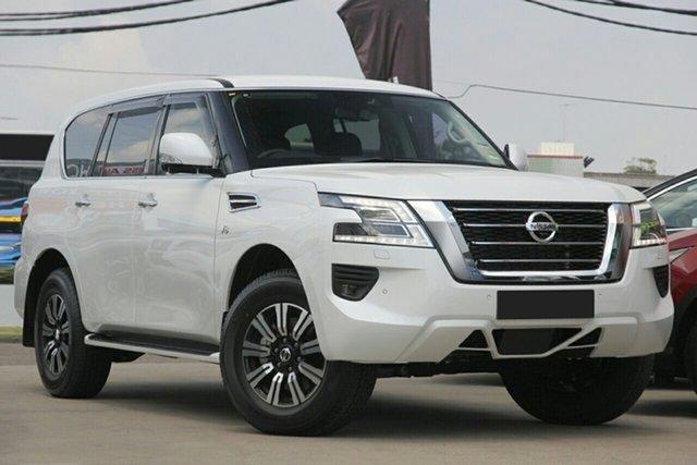 New Nissan Patrol Y62 MY21 TI Nailsworth, 2021 Nissan Patrol Y62 MY21 TI Moonstone White 7 Speed Sports Automatic Wagon