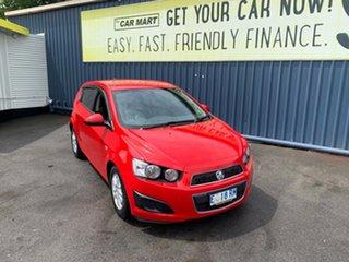 2015 Holden Barina TM MY15 CD Blaze Red 6 Speed Automatic Hatchback.