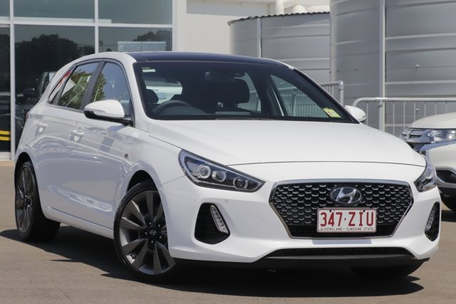 Used Hyundai i30 PD2 MY18 SR D-CT Premium, 2018 Hyundai i30 PD2 MY18 SR D-CT Premium White 7 Speed Sports Automatic Dual Clutch Hatchback