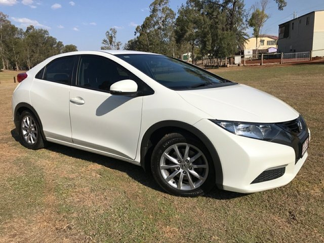 Used Honda Civic FK VTi-L, 2013 Honda Civic FK VTi-L White 5 Speed Automatic Hatchback