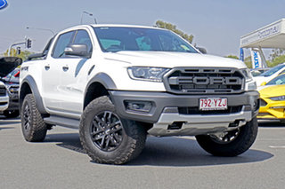 2019 Ford Ranger PX MkIII 2019.00MY Raptor Pick-up Double Cab Arctic White 10 Speed Sports Automatic.