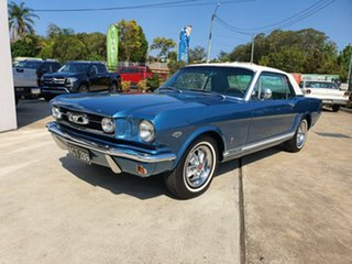 1966 Ford Mustang GT Blue and White 3 Speed Automatic Coupe.