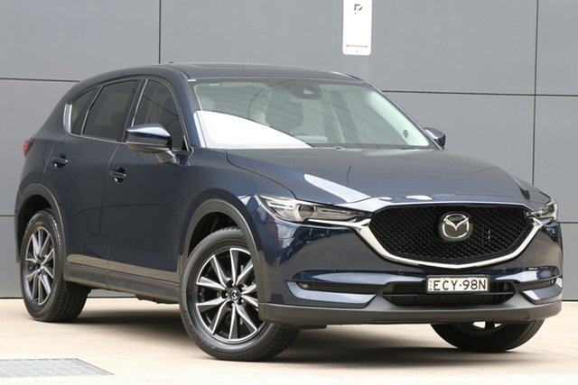 Demo Mazda CX-5 KF4WLA GT SKYACTIV-Drive i-ACTIV AWD, 2019 Mazda CX-5 KF4WLA GT SKYACTIV-Drive i-ACTIV AWD Deep Crystal Blue 6 Speed Sports Automatic