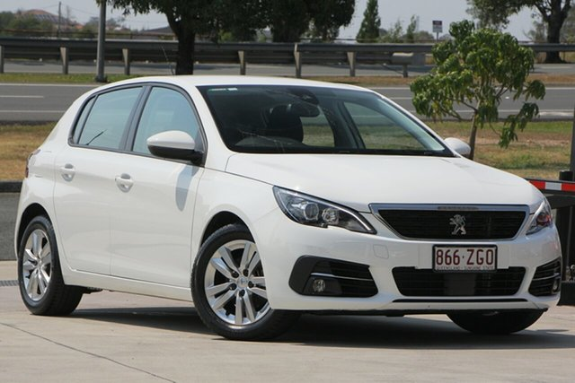 Used Peugeot 308 T9 MY18 Active, 2018 Peugeot 308 T9 MY18 Active White 6 Speed Sports Automatic Hatchback