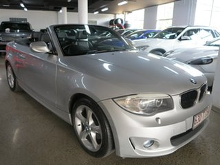 2012 BMW 1 Series E88 LCI MY0312 120i Steptronic Silver 6 Speed Sports Automatic Convertible.