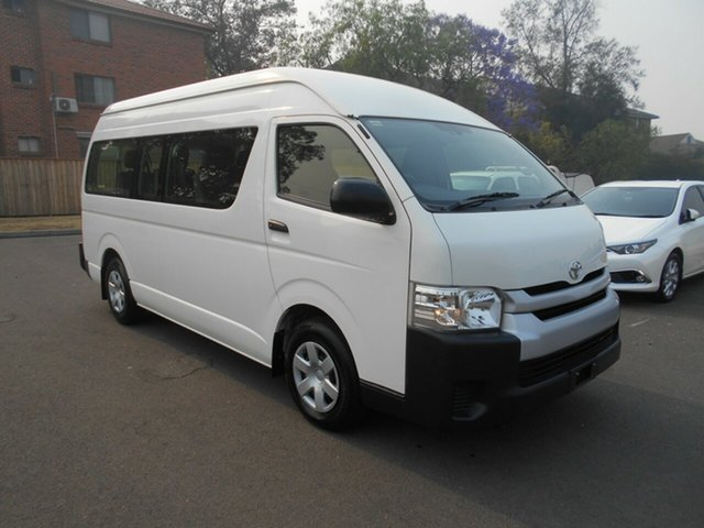 Used Toyota HiAce KDH223R MY16 Commuter, 2016 Toyota HiAce KDH223R MY16 Commuter White 4 Speed Automatic Bus