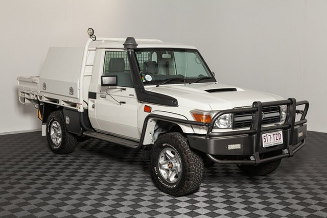 Used Toyota Landcruiser VDJ79R MY13 GXL, 2014 Toyota Landcruiser VDJ79R MY13 GXL French Vanilla 5 speed Manual Cab Chassis