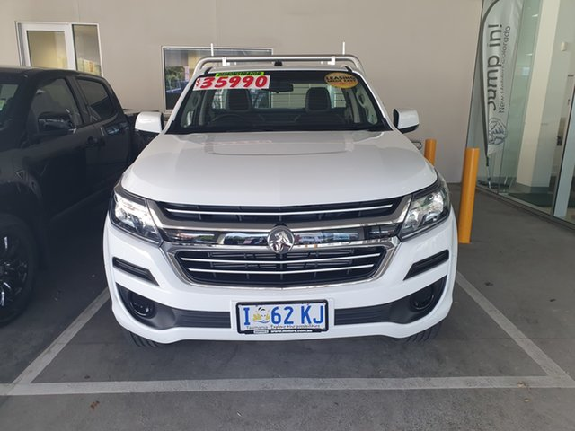 Demo Holden Colorado RG MY19 LS 4x2, 2019 Holden Colorado RG MY19 LS 4x2 Summit White 6 Speed Sports Automatic Cab Chassis