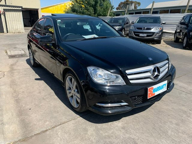 Used Mercedes-Benz C-Class W204 MY11 C200 BlueEFFICIENCY 7G-Tronic +, 2011 Mercedes-Benz C-Class W204 MY11 C200 BlueEFFICIENCY 7G-Tronic + Black 7 Speed Sports Automatic