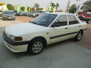 1995 Mazda 323 BG1062 White 5 Speed Manual Sedan.