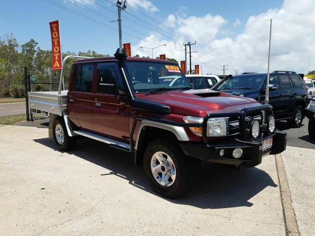 Used Toyota Landcruiser VDJ79R GXL Double Cab, 2018 Toyota Landcruiser VDJ79R GXL Double Cab Maroon 5 Speed Manual Cab Chassis