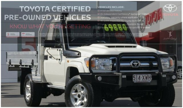 Used Toyota Landcruiser VDJ79R GXL, 2017 Toyota Landcruiser VDJ79R GXL White 5 Speed Manual Cab Chassis