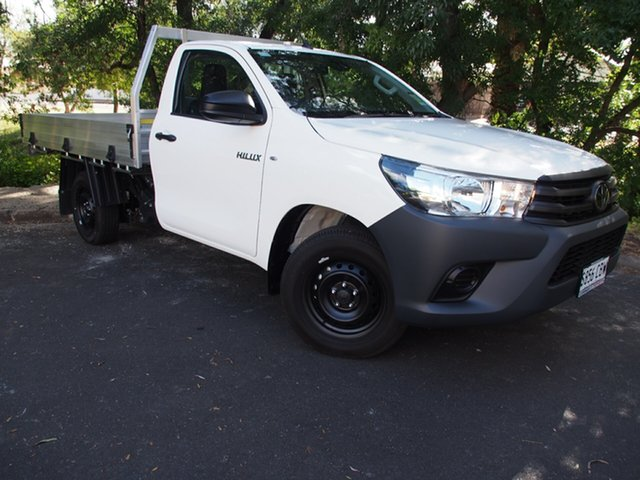 Demo Toyota Hilux TGN121R Workmate 4x2, 2019 Toyota Hilux TGN121R Workmate 4x2 White 5 Speed Manual Cab Chassis