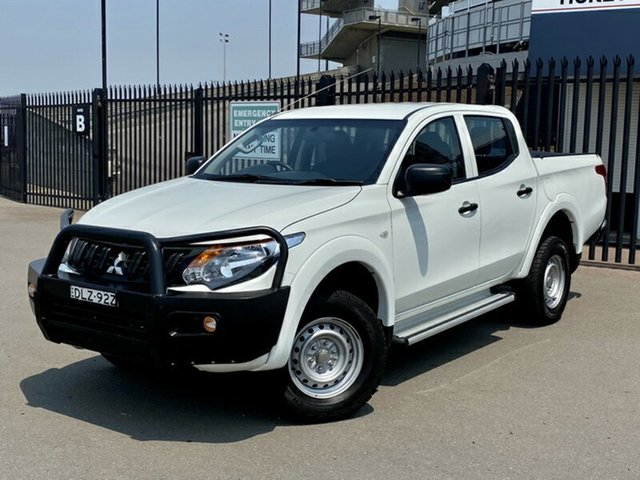 Used Mitsubishi Triton MQ MY17 GLX Double Cab, 2016 Mitsubishi Triton MQ MY17 GLX Double Cab White 6 Speed Manual Utility