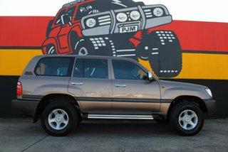 1999 Toyota Landcruiser FZJ105R GXL Bronze Metallic 4 Speed Automatic Wagon.