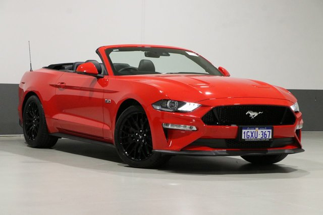 Used Ford Mustang FN GT 5.0 V8, 2018 Ford Mustang FN GT 5.0 V8 Red 10 Speed Automatic Convertible