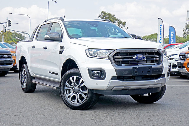 Used Ford Ranger PX MkIII 2019.00MY Wildtrak Pick-up Double Cab, 2019 Ford Ranger PX MkIII 2019.00MY Wildtrak Pick-up Double Cab Arctic White 10 Speed