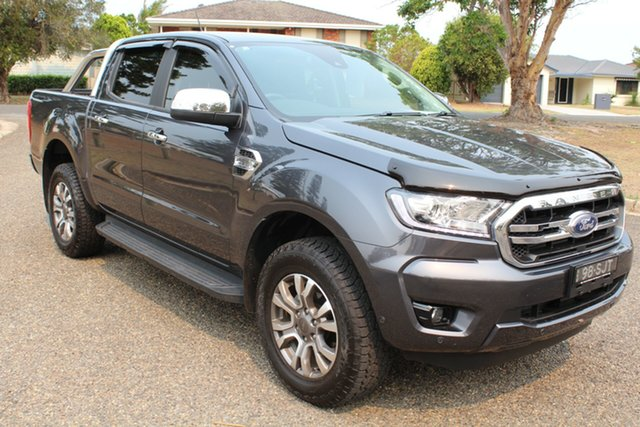 Used Ford Ranger PX MkIII 2019.00MY XLT Pick-up Double Cab, 2019 Ford Ranger PX MkIII 2019.00MY XLT Pick-up Double Cab Meteor Grey 6 Speed Sports Automatic