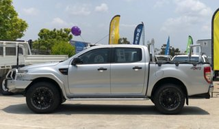 2013 Ford Ranger PX XL Double Cab Silver 6 Speed Manual Cab Chassis