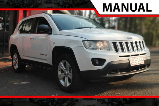 Used Jeep Compass MK MY12 Sport, 2012 Jeep Compass MK MY12 Sport White 5 Speed Manual Wagon