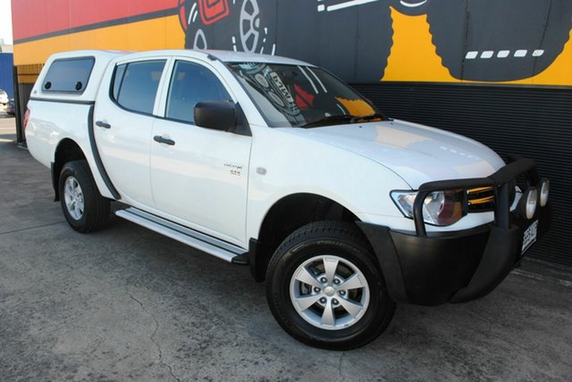 Used Mitsubishi Triton MN MY10 GLX Double Cab, 2010 Mitsubishi Triton MN MY10 GLX Double Cab Polar White 5 Speed Manual Utility