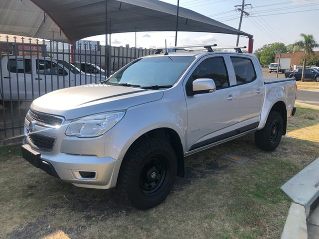 Used Holden Colorado RG LX (4x4), 2012 Holden Colorado RG LX (4x4) Silver 6 Speed Automatic Crew Cab Chassis