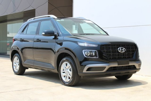 New Hyundai Venue QX MY20 Active, 2019 Hyundai Venue QX MY20 Active Phantom Black 6 Speed Automatic Wagon