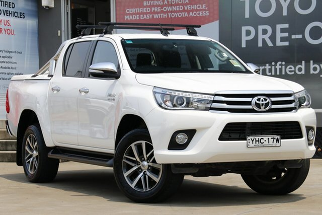 Used Toyota Hilux GUN126R SR5 Double Cab, 2017 Toyota Hilux GUN126R SR5 Double Cab Glacier White 6 Speed Sports Automatic Utility