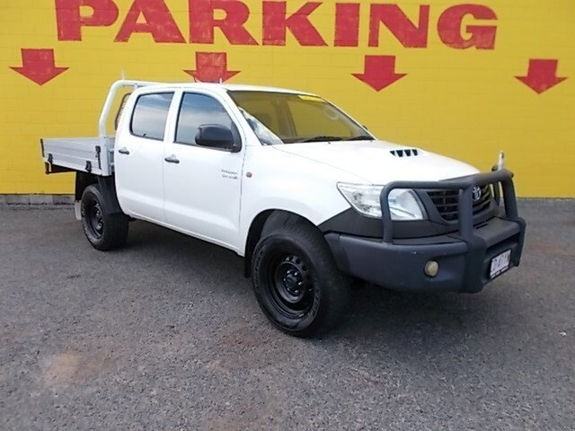 Used Toyota Hilux KUN26R MY12 Workmate Double Cab, 2011 Toyota Hilux KUN26R MY12 Workmate Double Cab White 5 Speed Manual Utility