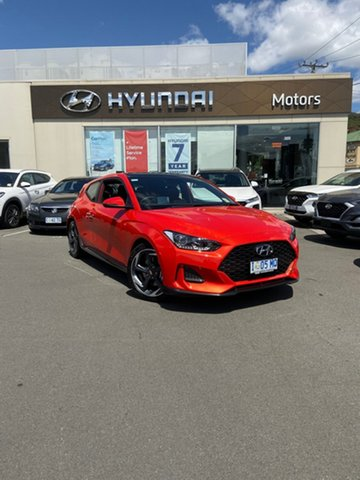 Demo Hyundai Veloster JS MY20 Turbo Coupe D-CT Premium, 2019 Hyundai Veloster JS MY20 Turbo Coupe D-CT Premium Tangerine Comet 7 Speed