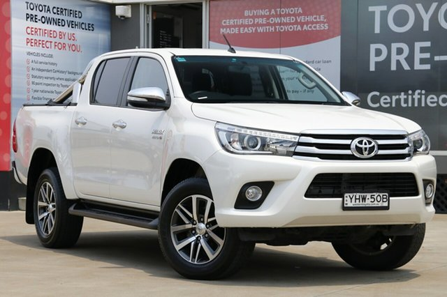 Used Toyota Hilux GUN126R SR5 Double Cab, 2017 Toyota Hilux GUN126R SR5 Double Cab Pearl White 6 Speed Manual Utility