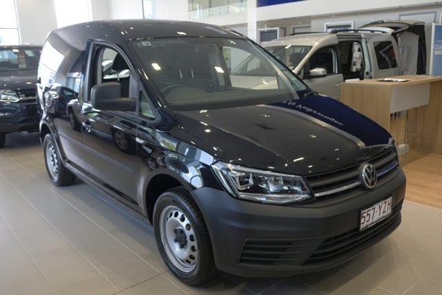 Demo Volkswagen Caddy 2KN MY19 TSI220 SWB DSG, 2019 Volkswagen Caddy 2KN MY19 TSI220 SWB DSG Deep Black Pearl Effect 7 Speed