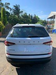 2019 Skoda Kodiaq NS MY20 132TSI DSG White 7 Speed Sports Automatic Dual Clutch Wagon.