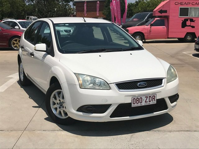 Used Ford Focus LT LX, 2008 Ford Focus LT LX White 5 Speed Manual Hatchback