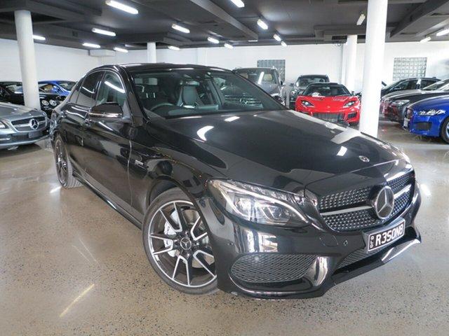 Used Mercedes-Benz C-Class W205 808MY C43 AMG 9G-Tronic 4MATIC, 2017 Mercedes-Benz C-Class W205 808MY C43 AMG 9G-Tronic 4MATIC Black 9 Speed Sports Automatic Sedan