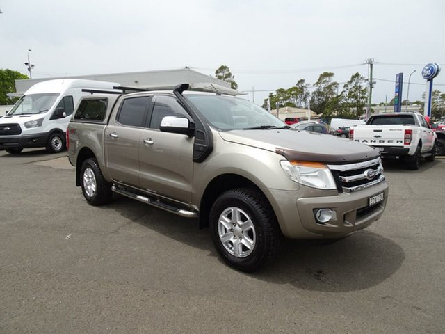 Used Ford Ranger PX XLT Double Cab, 2012 Ford Ranger PX XLT Double Cab Sparkling Gold 6 Speed Sports Automatic Utility