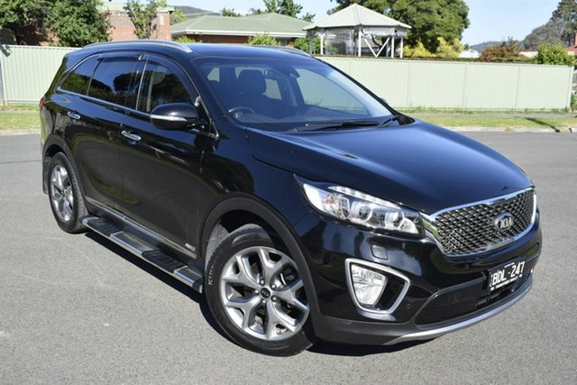 Used Kia Sorento UM MY15 Platinum AWD, 2015 Kia Sorento UM MY15 Platinum AWD Black/Grey 6 Speed Sports Automatic Wagon