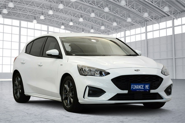 Used Ford Focus SA 2019.25MY ST-Line, 2019 Ford Focus SA 2019.25MY ST-Line Frozen White 8 Speed Automatic Hatchback