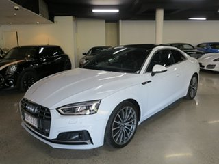 2017 Audi A5 F5 MY18 Sport S Tronic Quattro White 7 Speed Sports Automatic Dual Clutch Coupe.