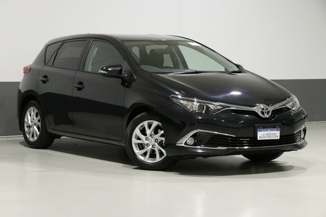 Used Toyota Corolla ZRE182R MY17 Ascent Sport, 2017 Toyota Corolla ZRE182R MY17 Ascent Sport Black 7 Speed CVT Auto Sequential Hatchback