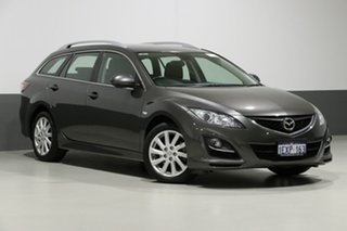 2010 Mazda 6 GH MY09 Classic Grey 5 Speed Auto Activematic Wagon.